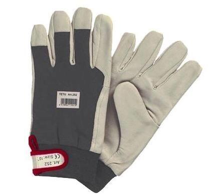 Перчатки кожаные утепленные (удлиненные) TETU 252